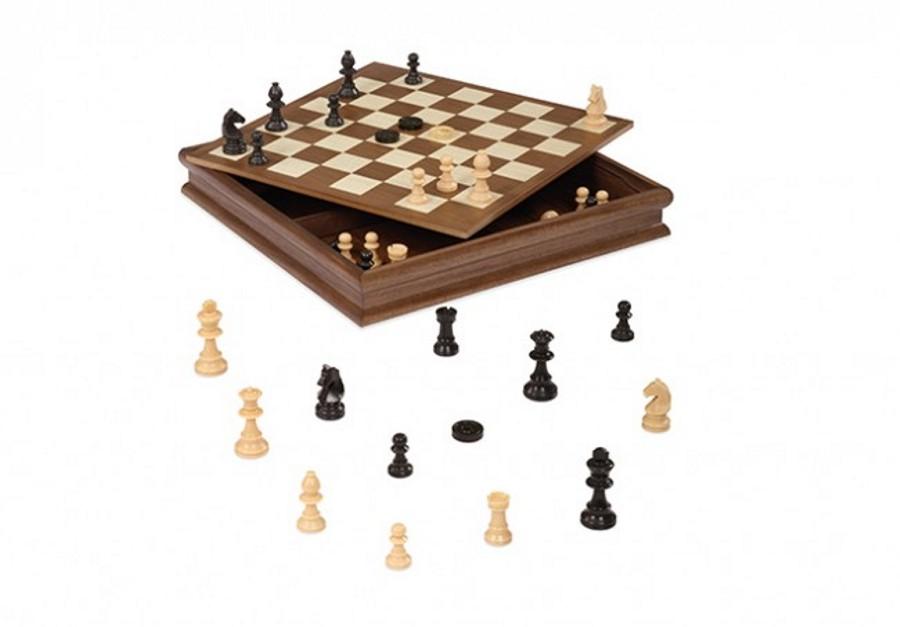 Giochi da tavolo contenitore scacchi dama cm 36 02955 - Tavolo contenitore bambini ...