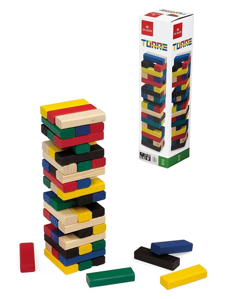 Jenga Torre colorata - Gioco in legno - 053558