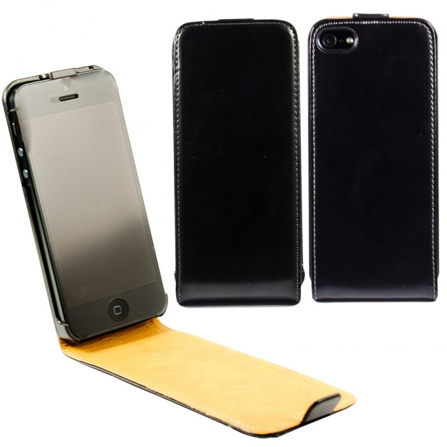 custodia pelle nera iphone se