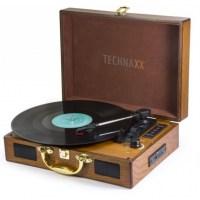 Giradischi-Convertitore-Vinile-LP-Bluetooth-MP3-WMA-3-Velocità-Marrone_Technaxx_ICTX-TX101BR